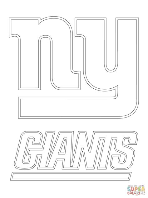 New York Giants Logo coloring page Free Printable