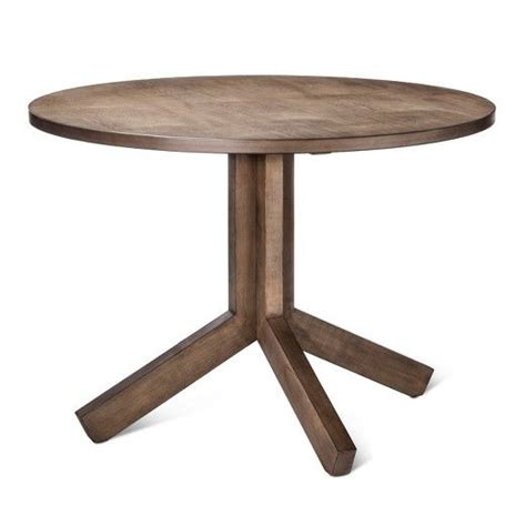 Newfield 42 Round Farmhouse Dining Table Gray Wash