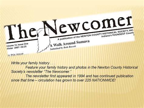 Newton County Historical Society s Newsletter