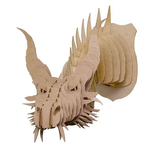 Nikita Cardboard Dragon Head Cardboard Safari
