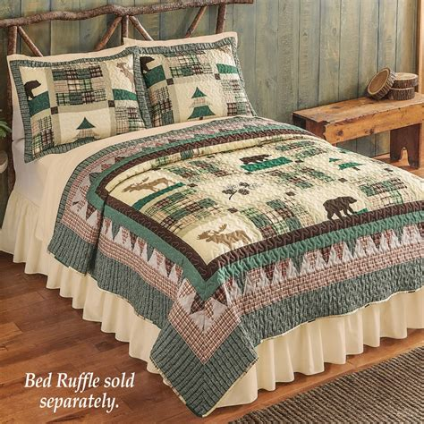 Northwoods Lodge Moose Bedroom Quilt from Collections Etc