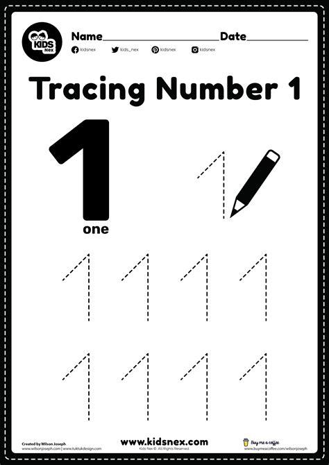 Number One Worksheet All Kids Network