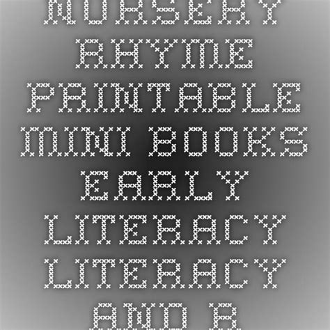 Nursery Rhymes Mini Books State Library of Louisiana