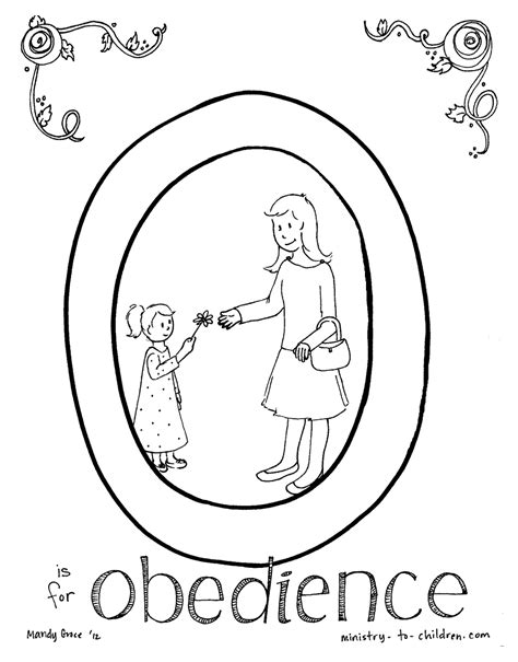 Obedience Chart For Children Coloring mybooklibrary Com