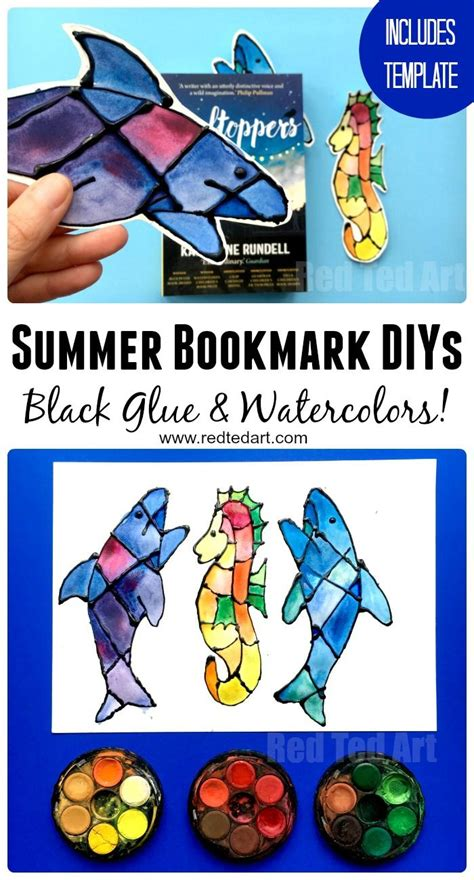 Ocean Bookmark Ideas Shark Seahorse Bookmarks Red