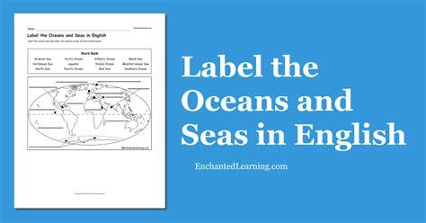Oceans and Seas at EnchantedLearning
