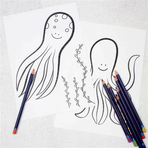 Octopus Colouring Pages for Kids Mum In The Madhouse