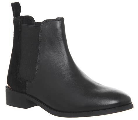 Office Bramble Chelsea Boots Black Leather Ankle Boots