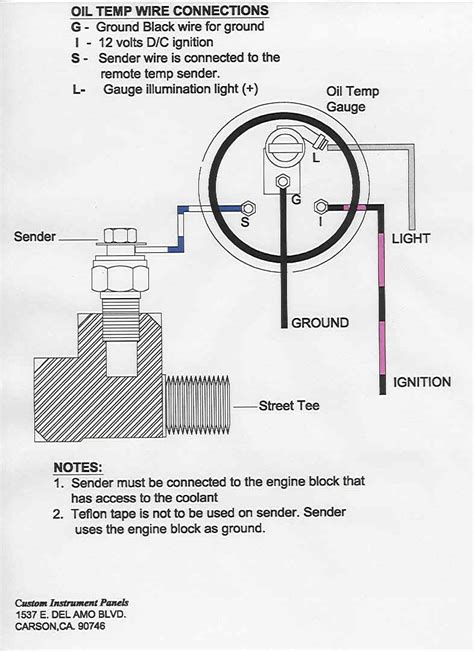 autometer temp gauge wiring diagram images temp gauge wiring oil temperature gauge wiring diagram