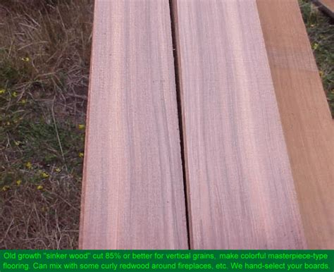 Old Growth Redwood Lumber Air Dried Salvaged Sinker Logs