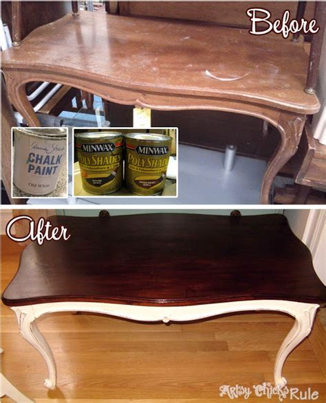 Old Thrift Store Coffee Table Transformed with Chalk Paint