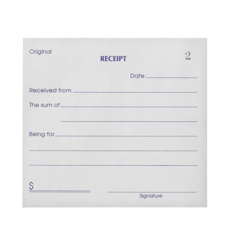 Olympic No 714 Carbonless Duplicate Cash Receipt Book