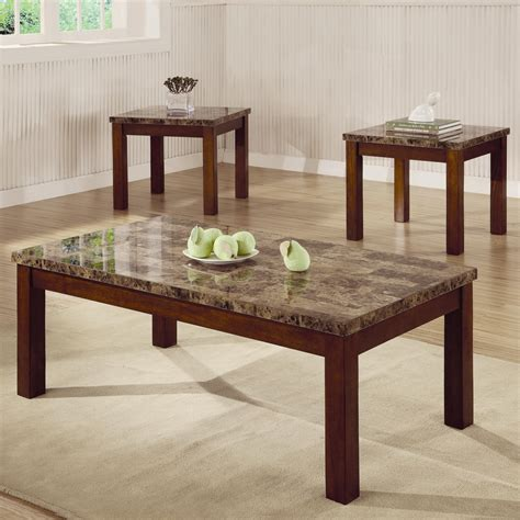 One Coffee Table and Two End Tables Boroughs 3 Piece