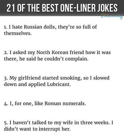 One Line Jokes Funny One Line Jokes One Liner Jokes
