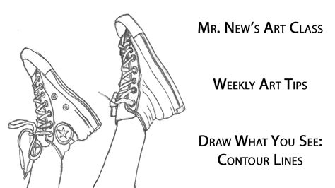 Online Fine Art Instruction in Contour Line Drawing of