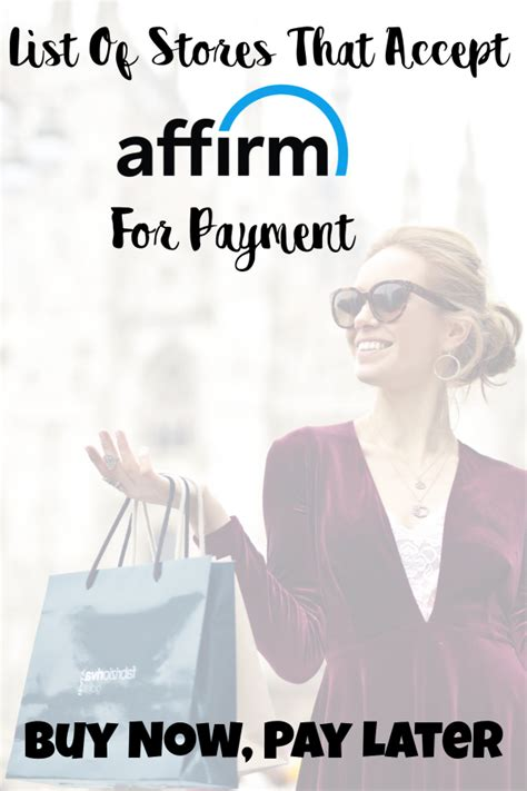 Online Stores That Accept Affirm To Buy Now Pay Later
