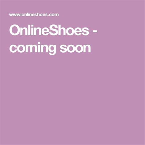 OnlineShoes coming soon