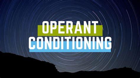 Operant conditioning YouTube