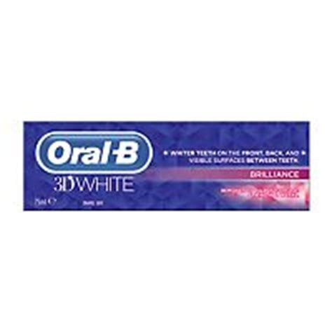 Oral B 3D White Brilliance Toothpaste 75ml Boots