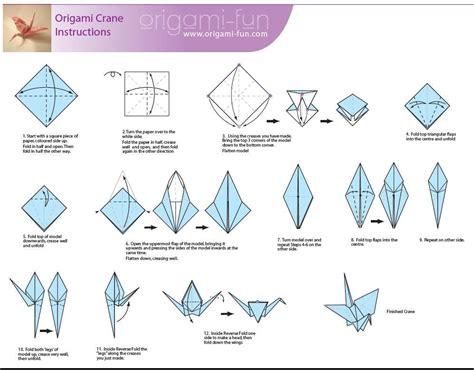 Origami Crane Instructions Origami Fun