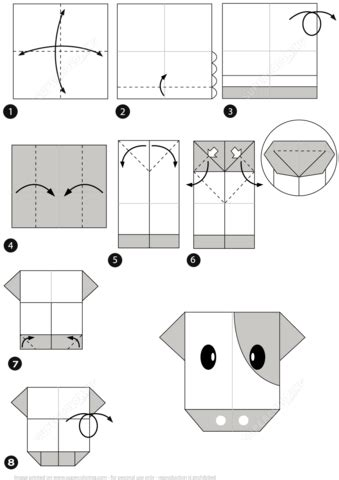 Origami Instructions How to make an Origami Cow How to