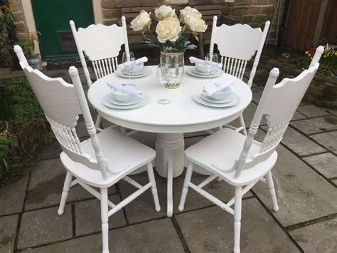 Ornate Round Dining Table and 4 Chairs furniture by owner