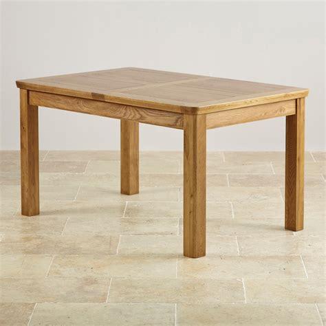 Orrick Rustic Solid Oak 4ft 7 x 3ft Extending Dining Table