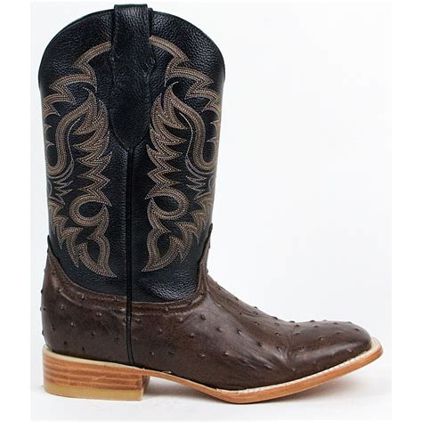 Ostrich Boots Authentic Full Quill Ostrich Western Cowboy