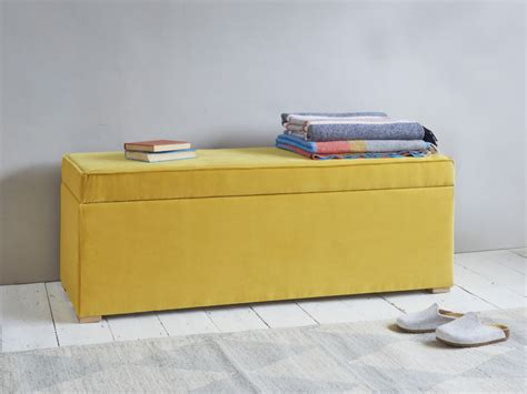 Ottoman Storage Chests Upholstered Wooden Loaf