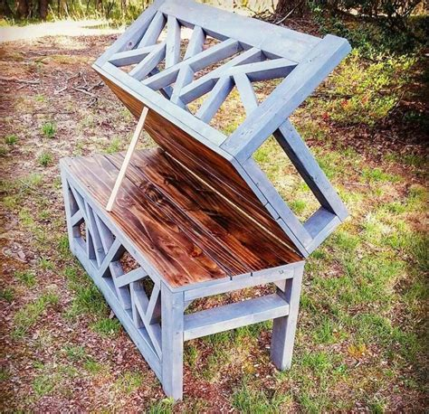 Outdoor Convertible Bench Coffee Table HandmadeHaven