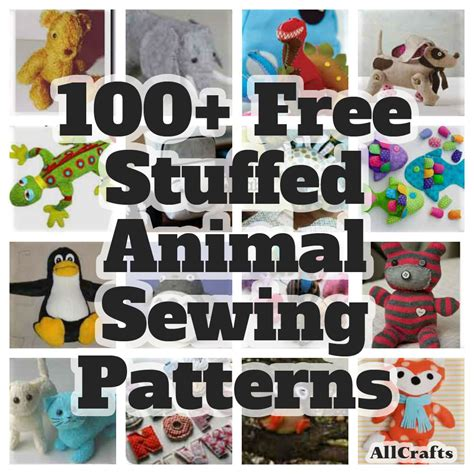 Over 100 Free Stuffed Animal Sewing Patterns at AllCrafts
