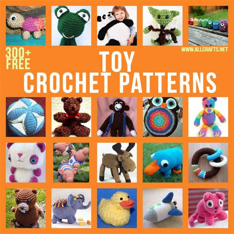 Over 300 Free Crochet Toy Patterns at AllCrafts