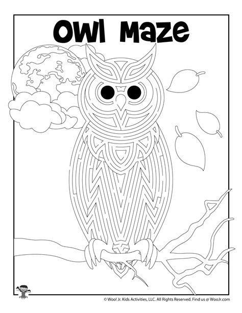 Owl Coloring Pages Woo Jr Kids Activities
