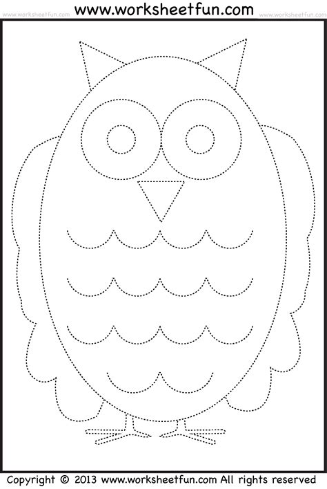 Owl Tracing and Coloring 4 Halloween Worksheets FREE