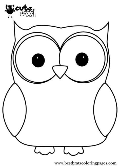 Owls Coloring Pages DLTK Kids