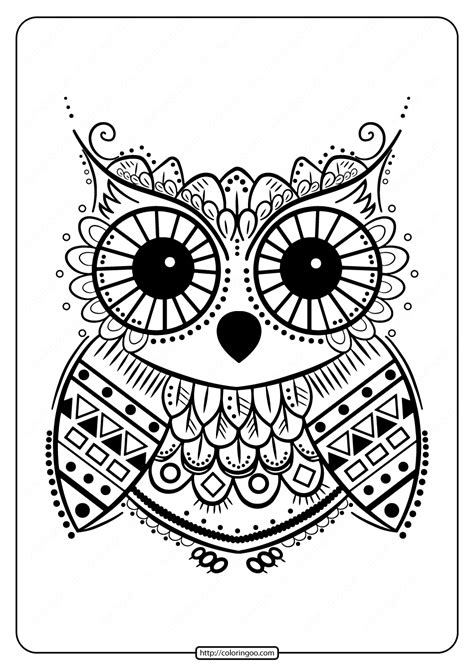 Owls Coloring Pages and Printable Activities