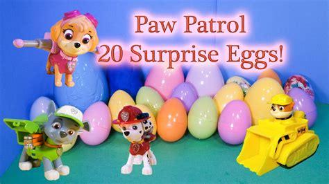 PAW PATROL Nickelodeon Huge Surprise Eggs Funny YouTube