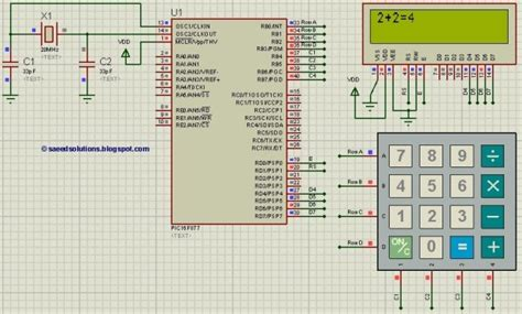 PIC16f877 based simple calculator project