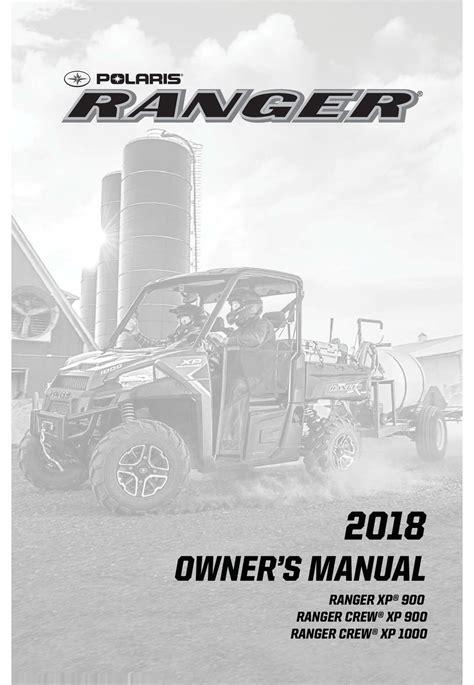 POLARIS RANGER XP 900 OWNER S MANUAL Pdf Download