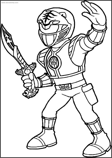 POWER RANGERS COLORING Pages Free Download Printable
