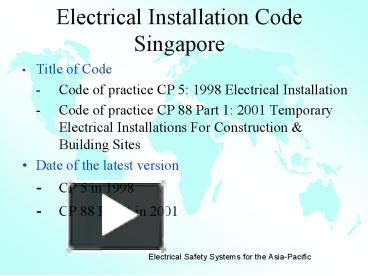 PPT Electrical Installation Code Singapore PowerPoint