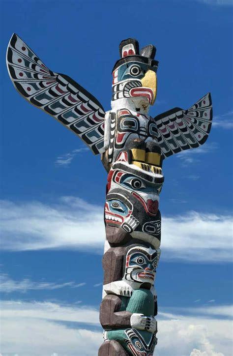 Pacific Northwest Coastal Indians Totem Poles Native