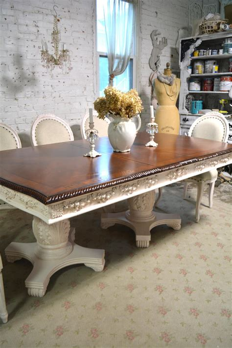 Painted dining table Etsy