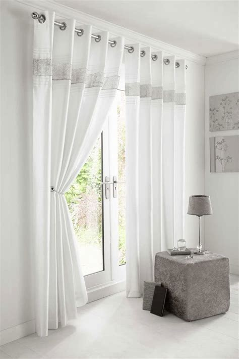 Pair Curtains Cream with Edging 90 ins drop x 66 ins wide