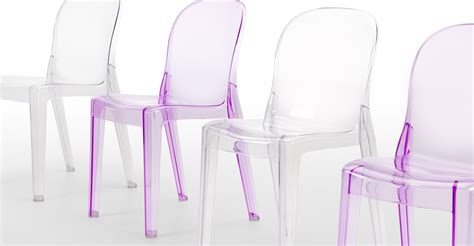 Pair of Jelly Clear Acrylic Chairs made