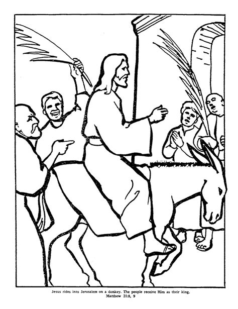 Palm Sunday Coloring Pages The Clipart and Coloring