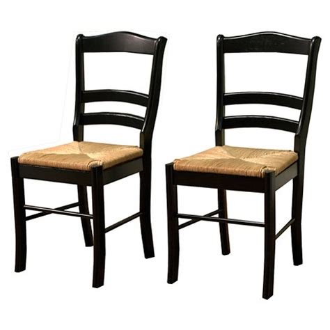 Paloma Dining Chair with Rush Seat Black Set of 2 Target