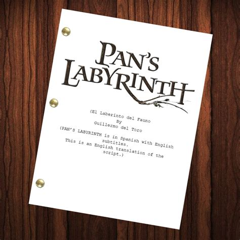 Pan s Labyrinth Daily Script Movie Scripts and Movie