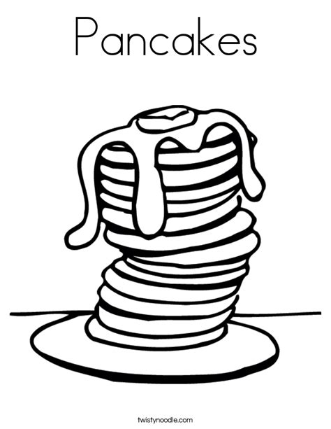Pancakes Coloring Page Twisty Noodle
