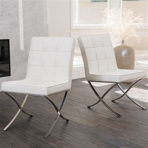 Pandora Modern Design Leather Dining Chairs Set of 2